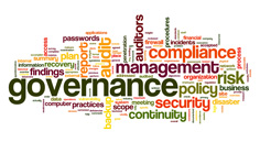 Governance and compliance wordart